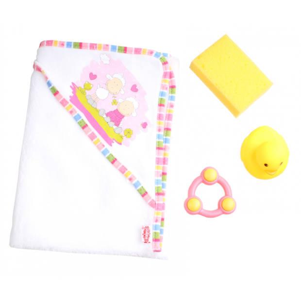 Heless Poppen handdoek met accessoires 50 cm