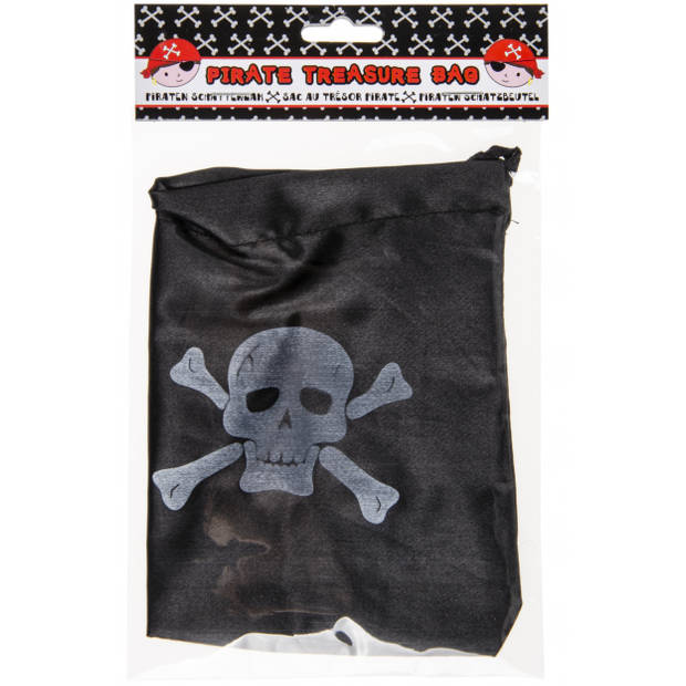 LG-Imports piratengeldzak 16 x 12,5 cm zwart