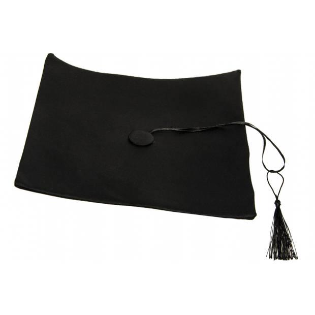 LG-Imports afstudeerhoed 28 x 28 cm zwart