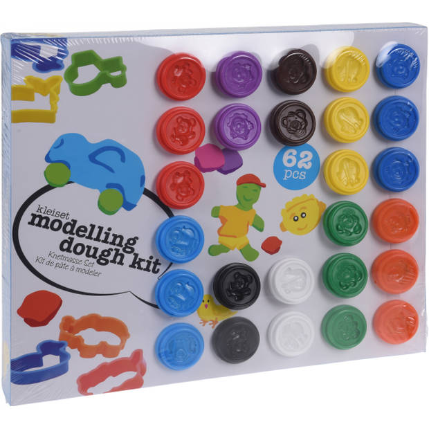 Free and Easy kleiset modelling dough kit 62-delig