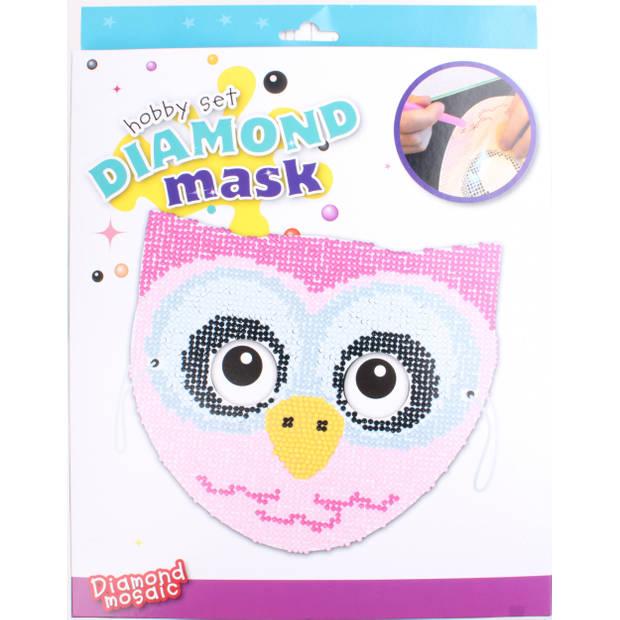 Free and Easy hobbyset diamond uilenmasker 20 cm