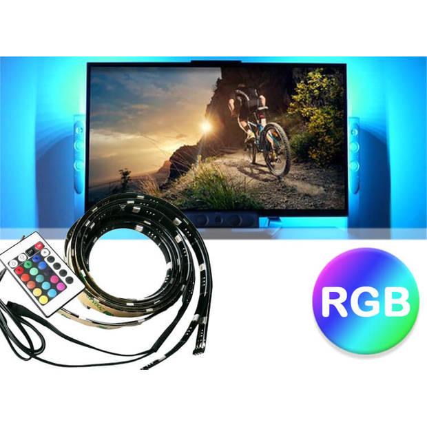 Deluxa - TV RGB - USB LED Strip set met afstandsbediening