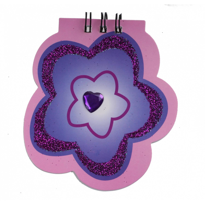 Korting Lg imports Notitieboekje Bloem 10 Cm Paars roze