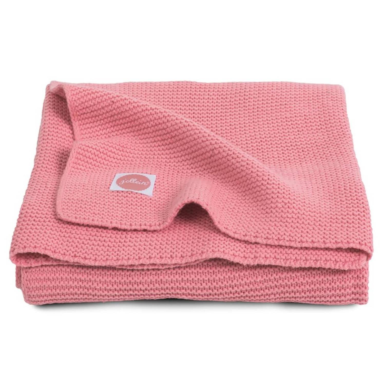 Jollein Deken Basic Knit 75×100 cm coral pink 516-511-65106