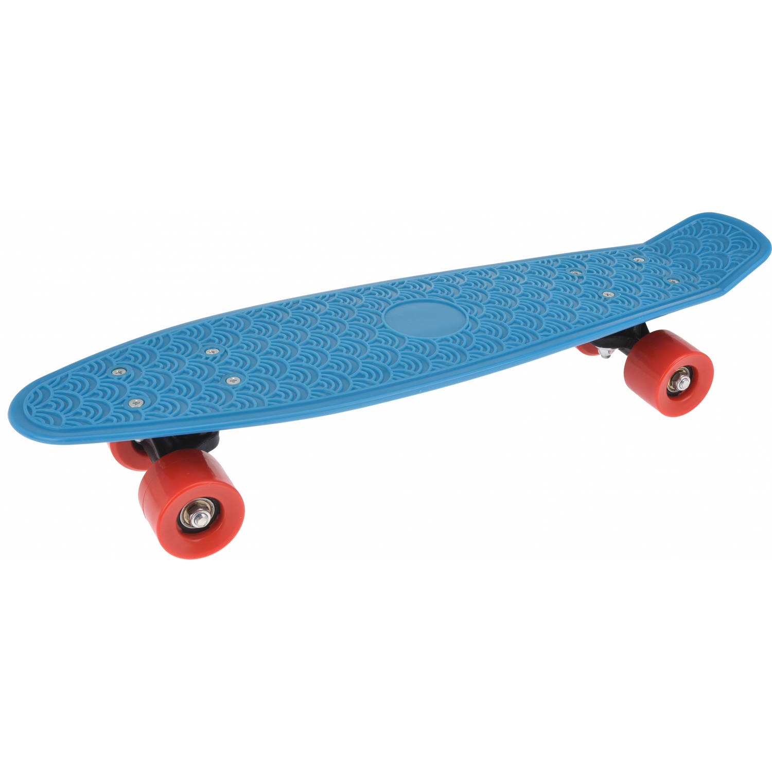 Free and Easy skateboard retro 59 cm blauw/rood