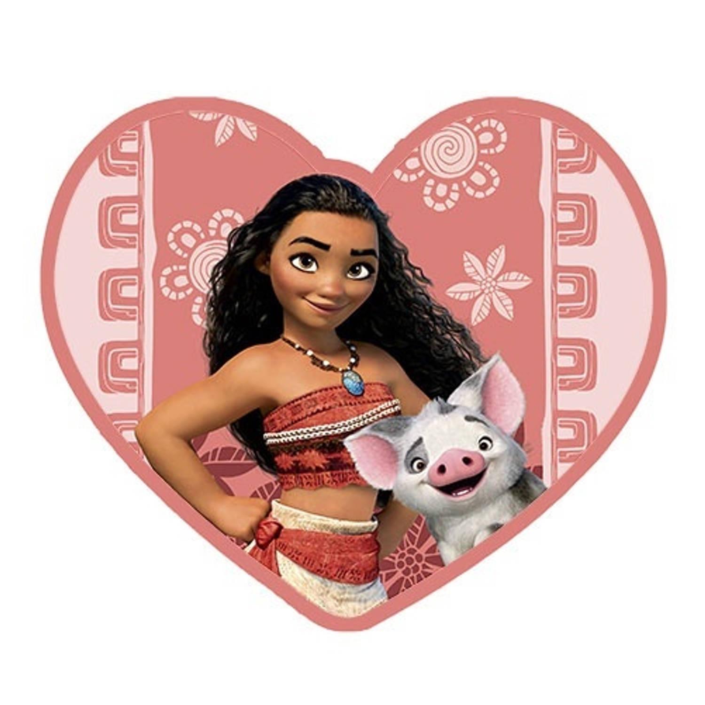 Disney Vaiana kussen 35 x 35 cm roze