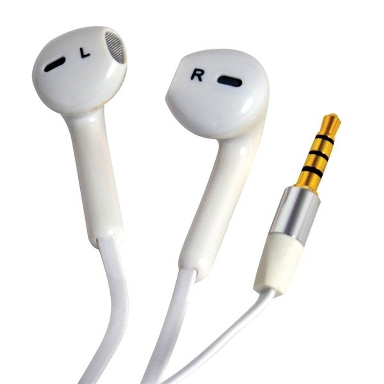 Carpoint oordopjes met microfoon comfort fit wit 120 cm