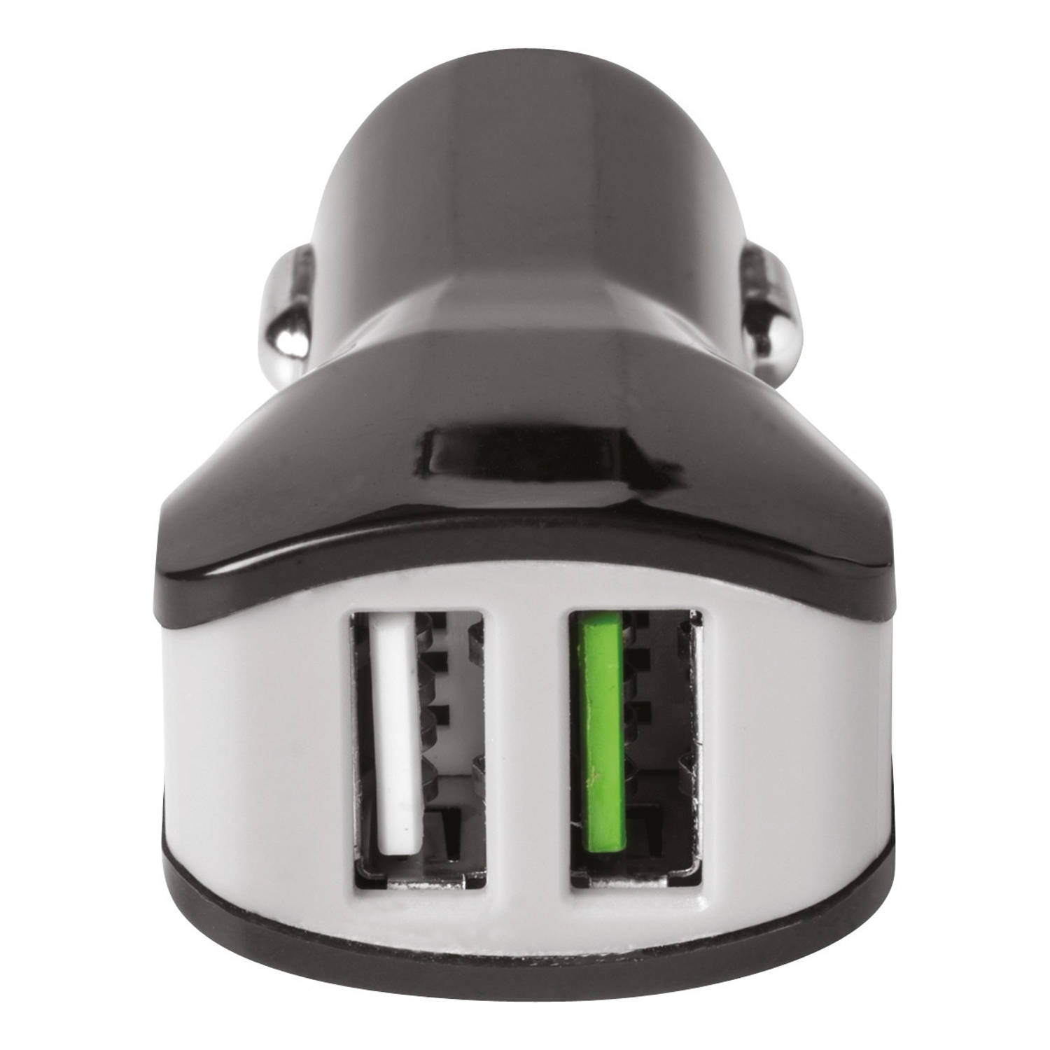 Celly autolader dual USB 12/24V 3.4A zwart