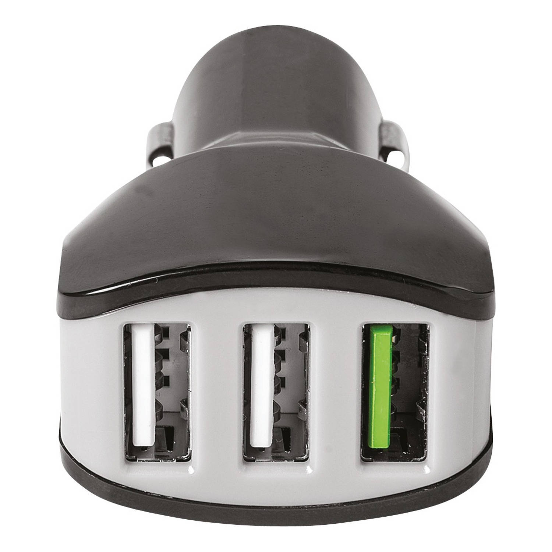 Celly autolader 3 USB-poorten 12/24V 4.4A zwart