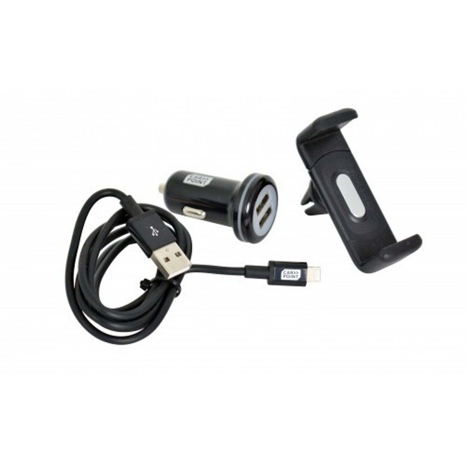 Carpoint Laderset 3 in 1 USB