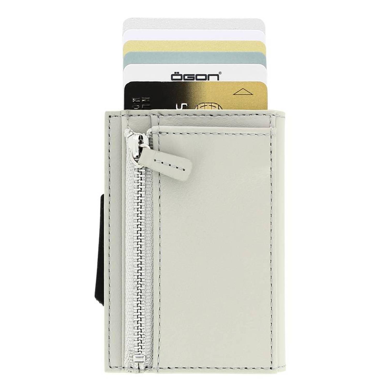 Korting Ogon Designs Cascade Zipper Cardprotector Met Muntgeldvak Zilver