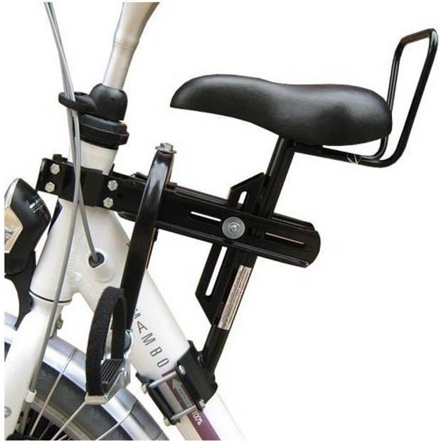 TOM fietszitje voor op buis damesfiets 1 buis zwart