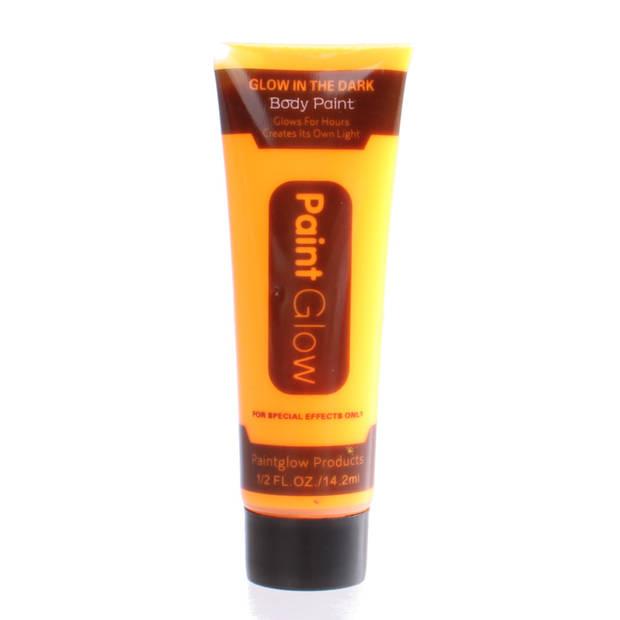 LG-Imports glow in the dark body paint oranje 2 ml