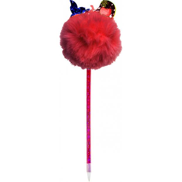LG-Imports Fluffy balpen met zeemeermin rood 28,5 cm