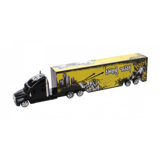 LG-Imports vrachtwagen Road Big 28.5 cm zwart/geel