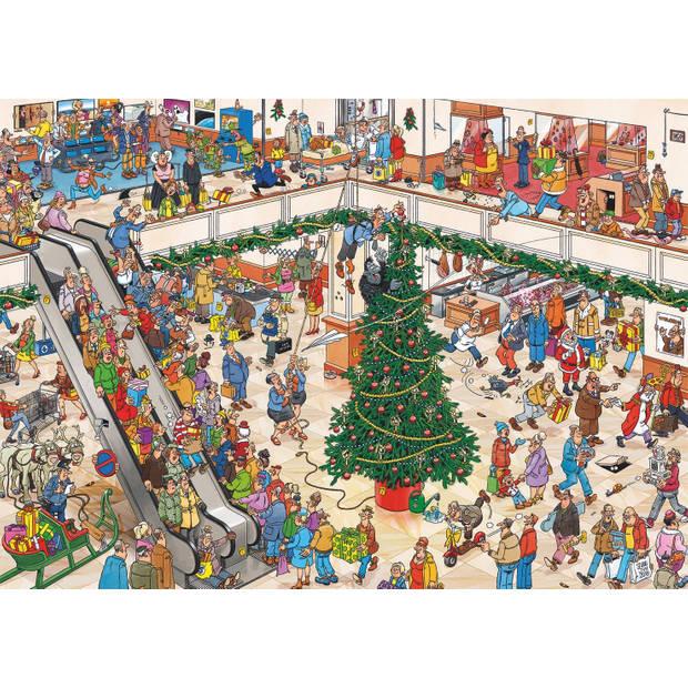 Jan van Haasteren puzzel holiday shopping - 2 x 1000 Stukjes