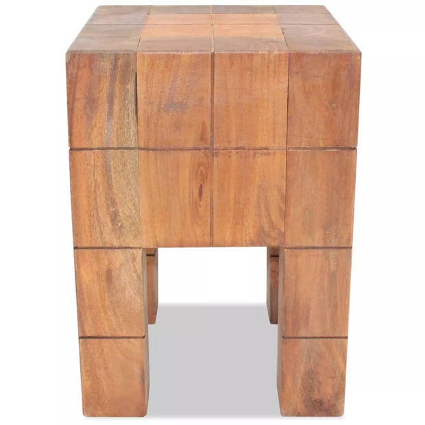 vidaXL Kruk massief gerecycled hout