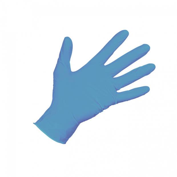 Carpoint wegwerphandschoenen Nitril doos 100 blauw maat L