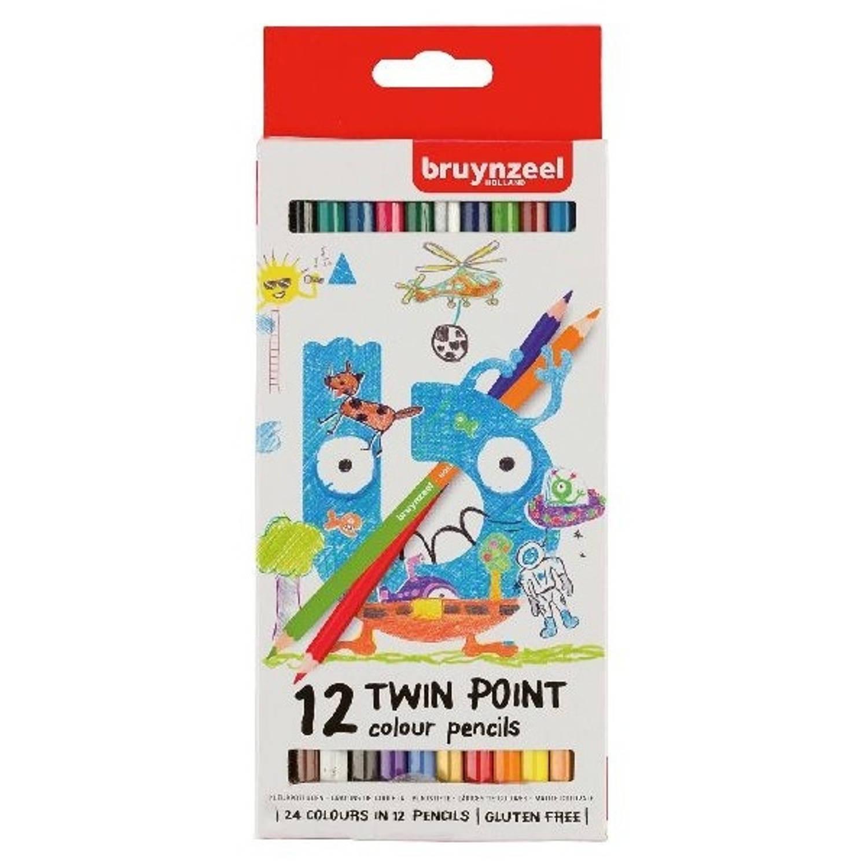 Bruynzeel kleurpotloden Twin Point 12 stuks