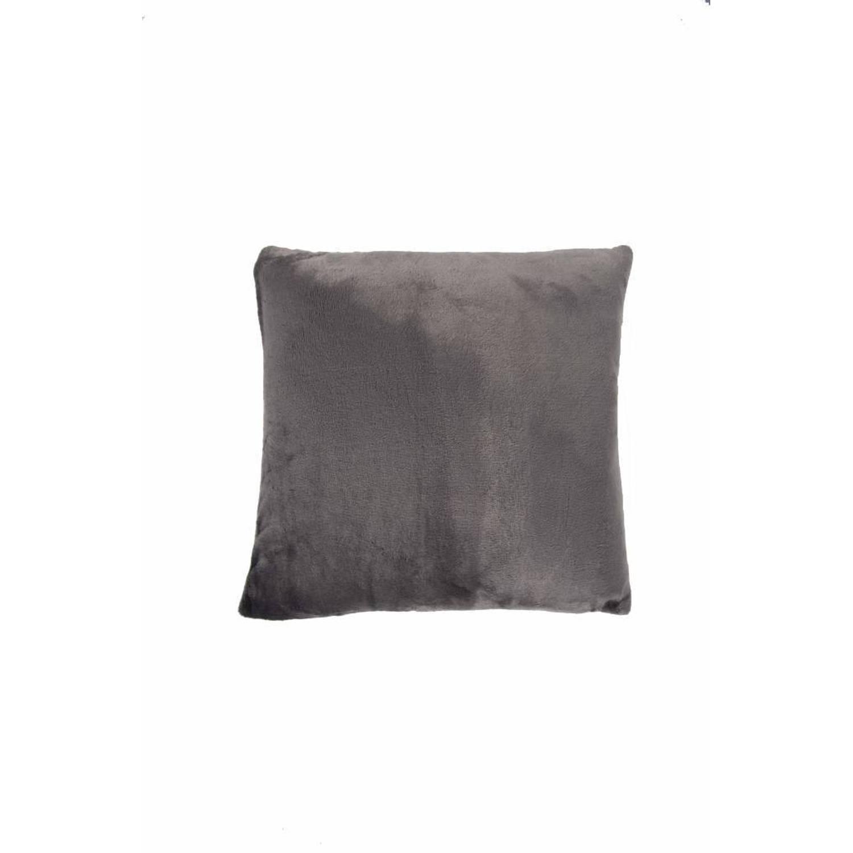 Nightlife Sierkussenhoes Flanel Fleece Antraciet