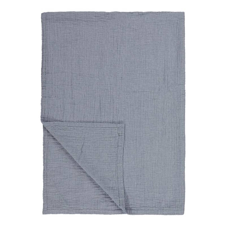 Marc O'Polo Soini plaid - 100% katoen - 150x200 cm - Blauw