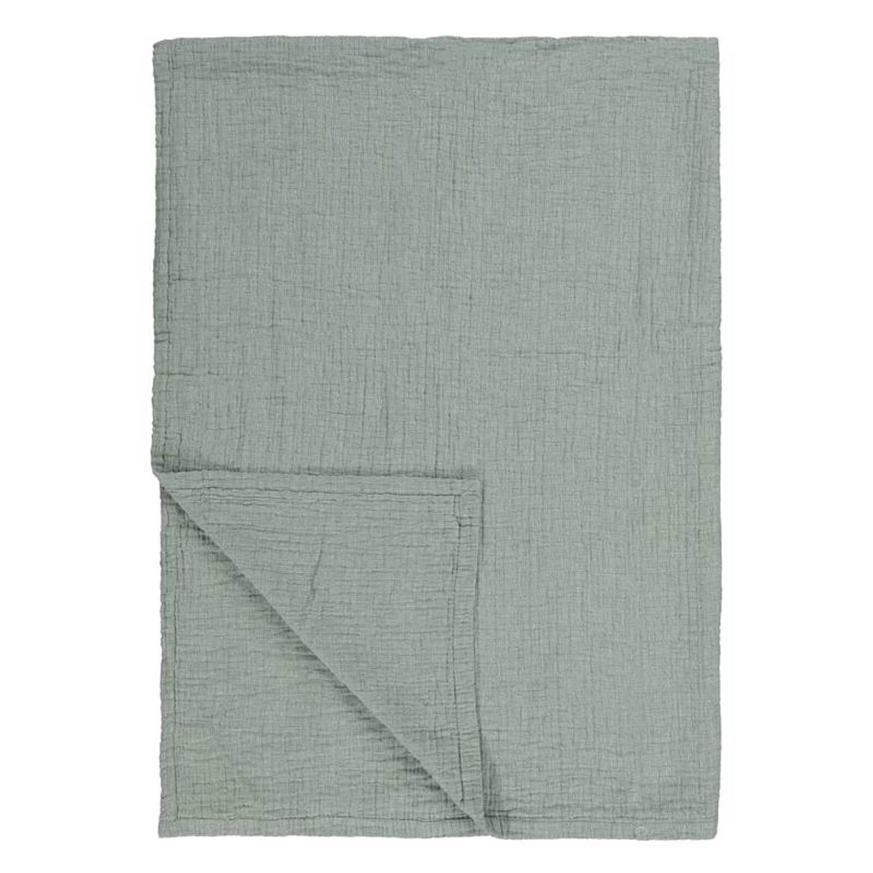 Marc O'Polo Soini plaid - 100% katoen - 150x200 cm - Groen