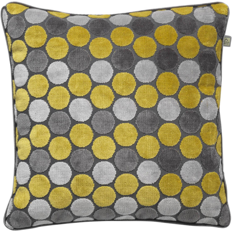 Dutch Decor Kussenhoes Seppe 45x45 cm lemon
