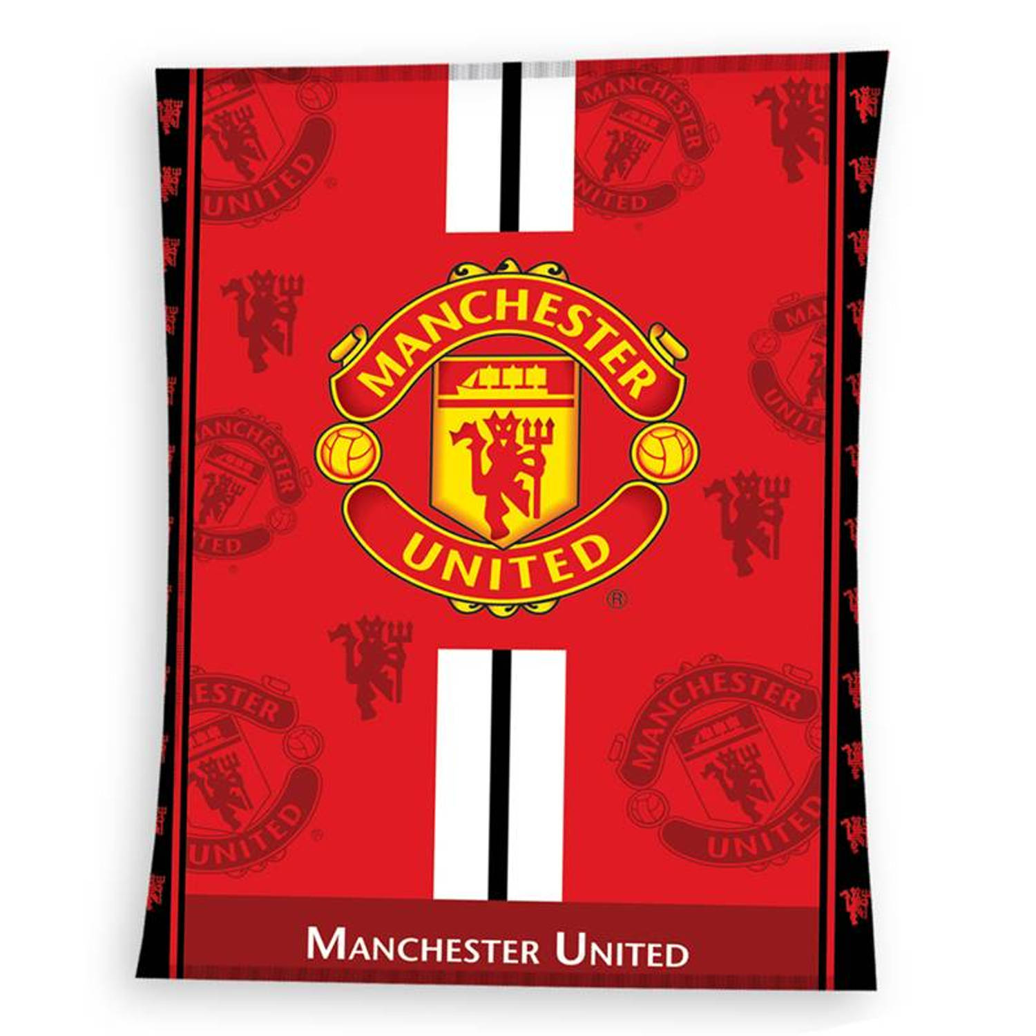 Manchester United Fleece Plaid - 100% polyester - 130x170 cm - Rood