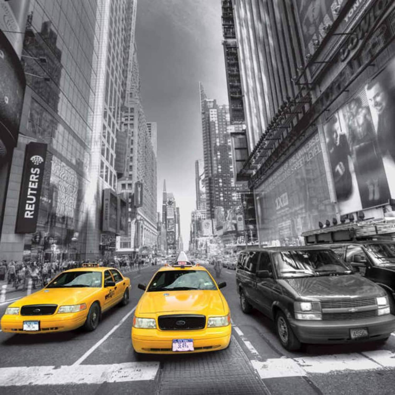 Afbeelding van AG Design Fotobehang Yellow Cab FTS1310