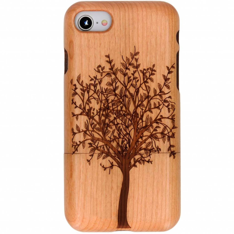 Boom design echt houten hardcase hoesje voor de iPhone 8-7