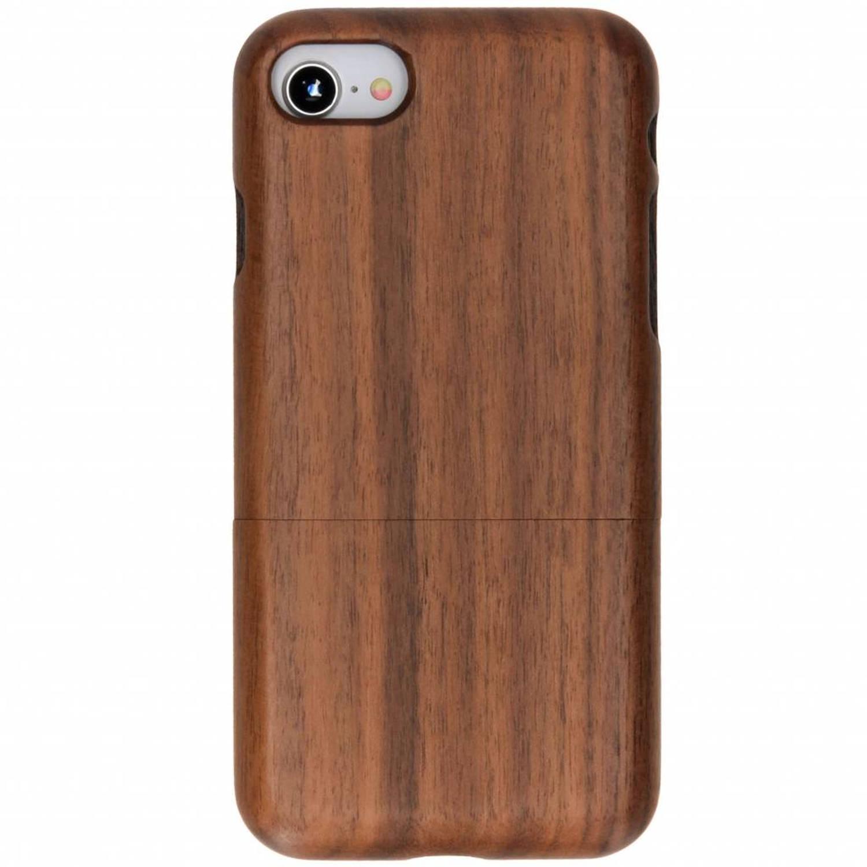 Donkerbruin echt houten hardcase hoesje voor de iPhone 8-7