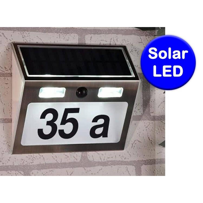 Haushalt 60253 Solar huisnummer verlichting met bewegingsmelder