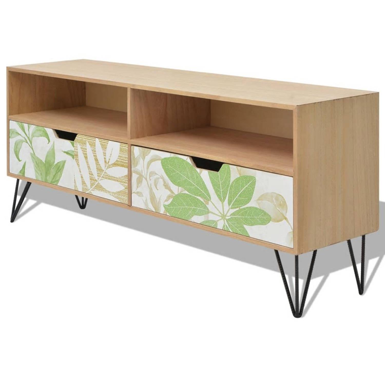 Afbeelding van vidaXL Tv-meubel bruin 120x30x50 cm MDF