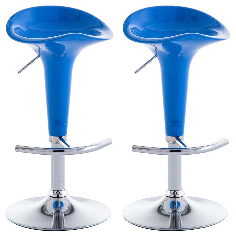 vidaXL Barkrukken kunststof blauw 2 st