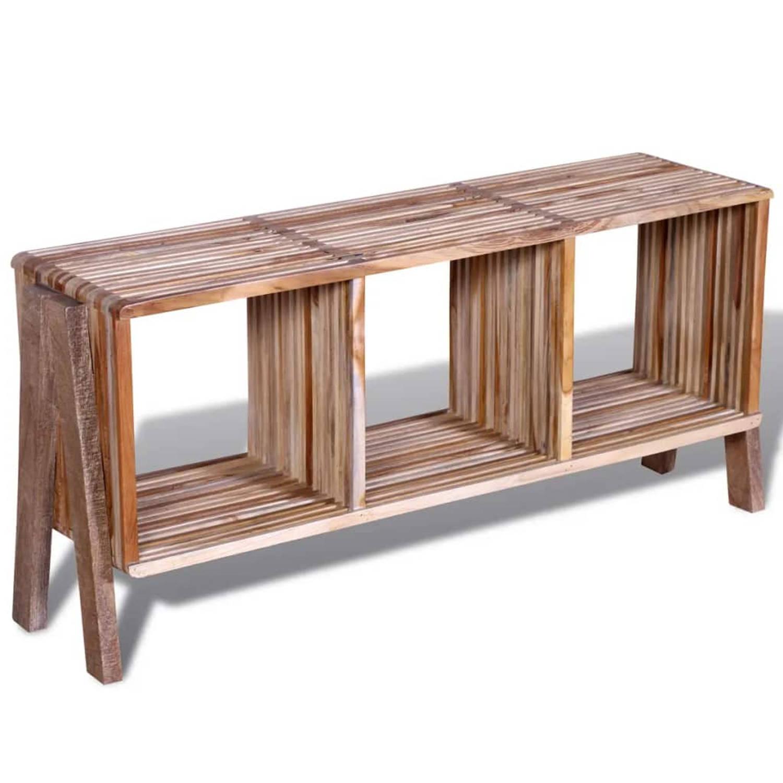 Image of Tv-meubel met 3 vakken gerecycled teak stapelbaar
