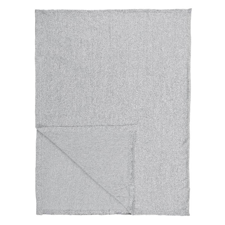 Marc O'Polo Loma plaid - 100% katoen - 130x170 cm - Grijs