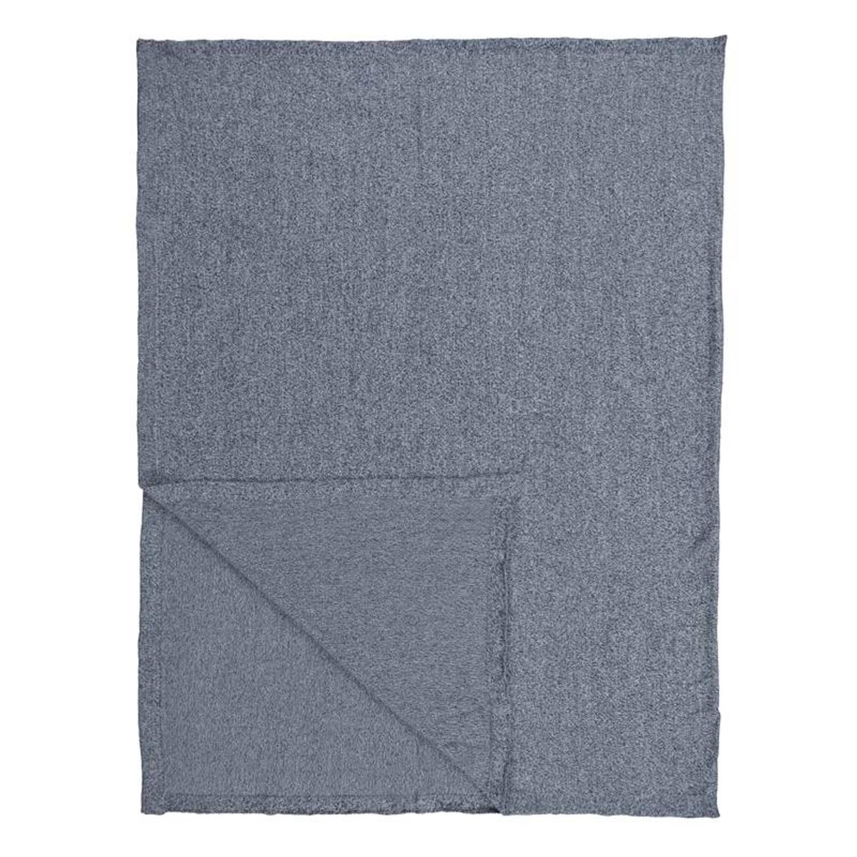 Marc O'Polo Loma plaid - 100% katoen - 130x170 cm - Blauw