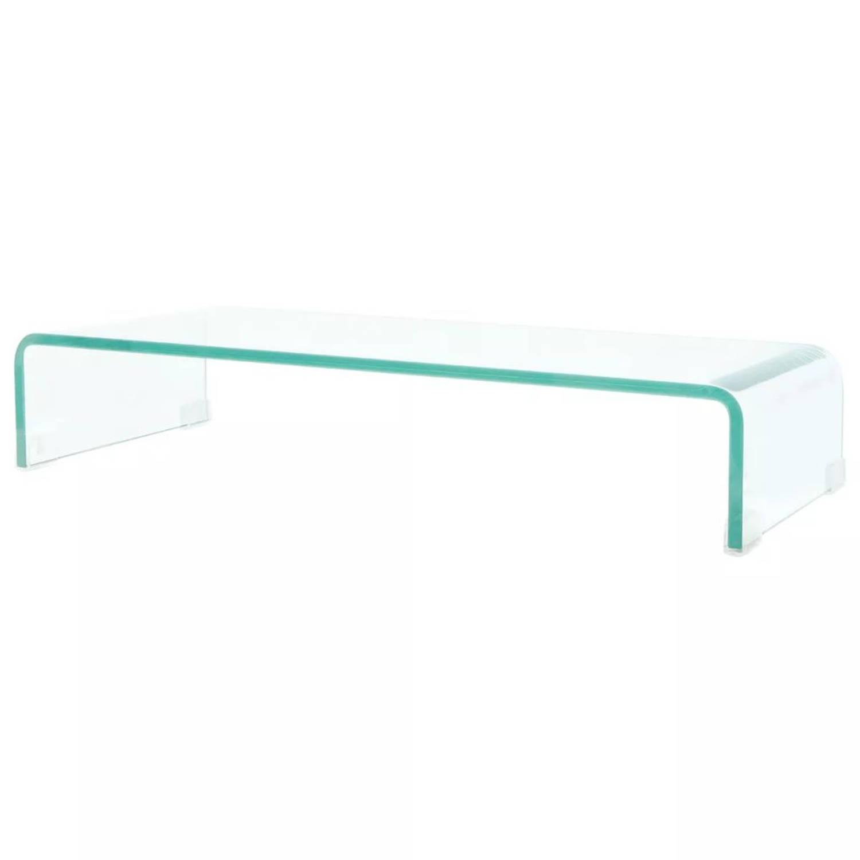 Korting Vidaxl Tv meubel monitorverhoger Transparant 70x30x13 Cm Glas