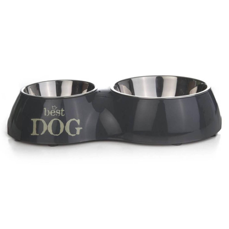 Beeztees Dubbele voederbak Best Dog 510 ml 31x17,5 cm 650395