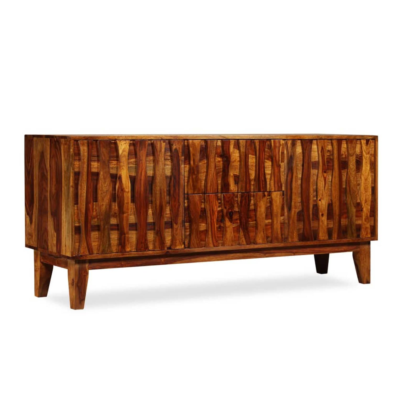 vidaXL Dressoir 160x45x70 cm massief sheesham hout