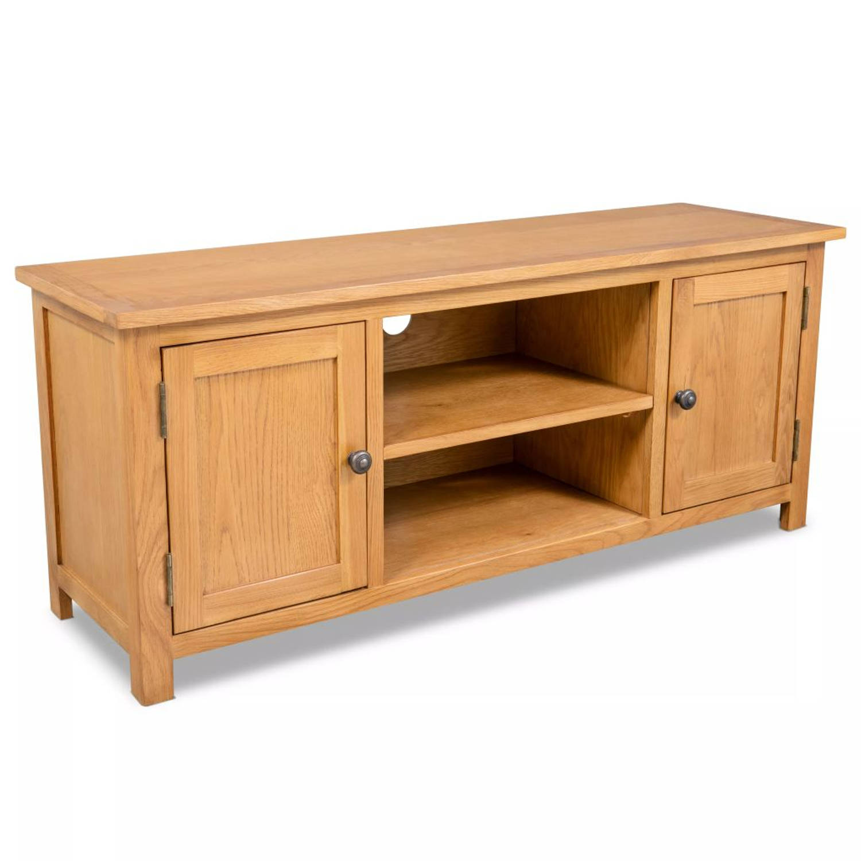 vidaXL Tv-meubel eikenhout 120x35x48 cm