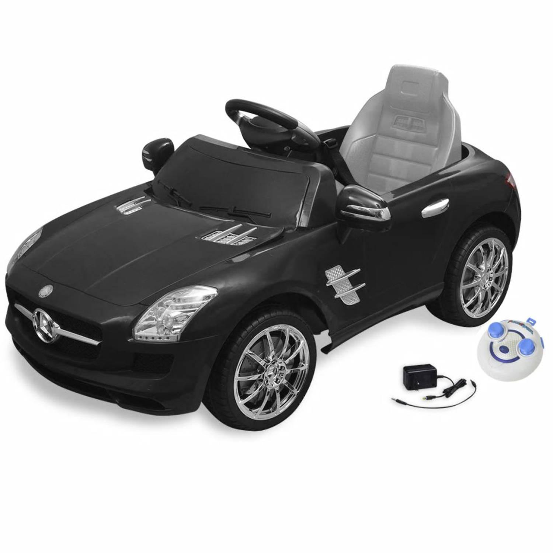 vidaXL Elektrische auto Mercedes Benz SLS AMG zwart 6 V met afstandsbediening