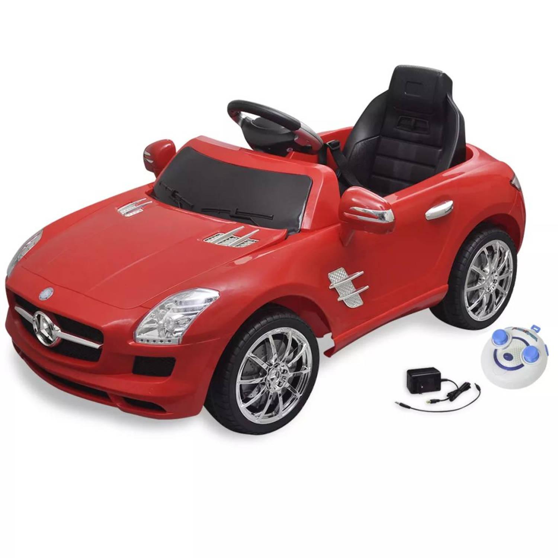 vidaXL Elektrische auto Mercedes Benz SLS AMG rood 6 V met afstandsbediening