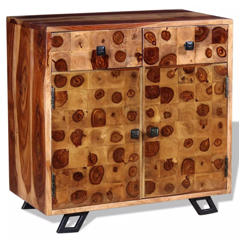 vidaXL Dressoir massief sheesham hout 65x35x65 cm