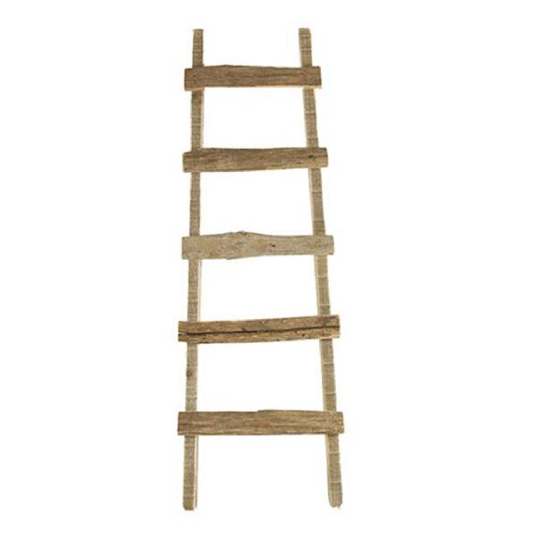 Houten decoratie ladder lara 37x5xh118 cm blokker for Houten decoratie