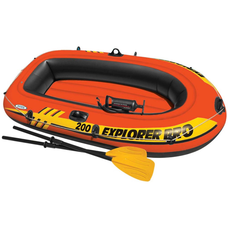Intex Explorer Pro 200 opblaasboot met peddels en pomp 58357NP