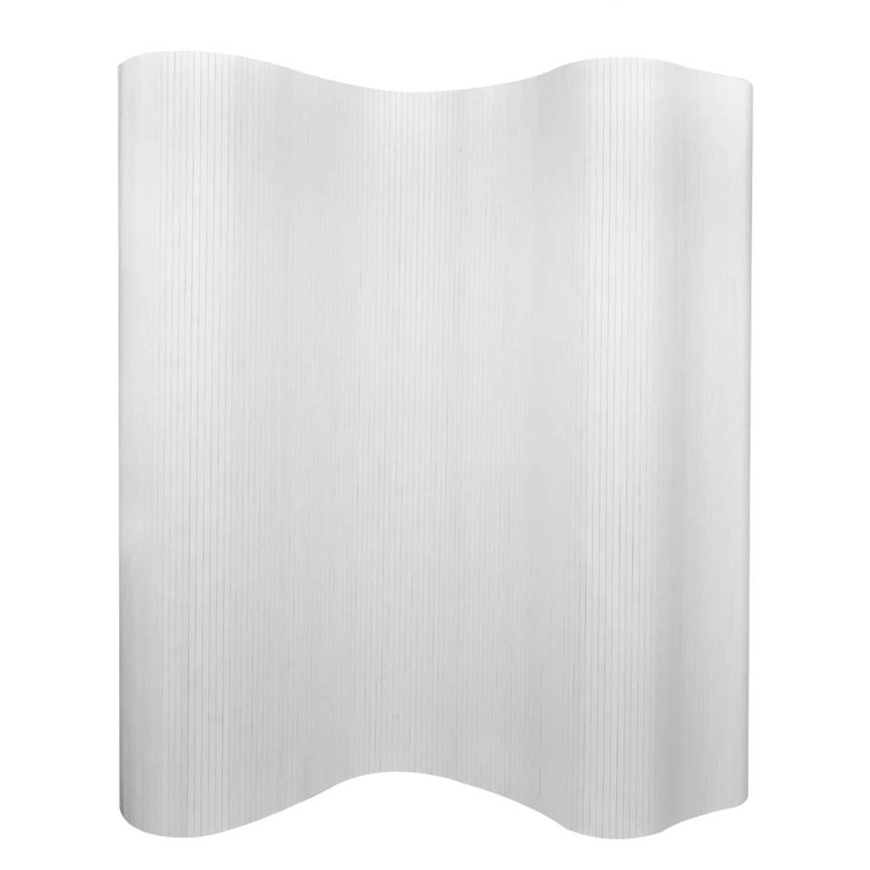 vidaXL Kamerverdeler wit bamboe 250x195 cm