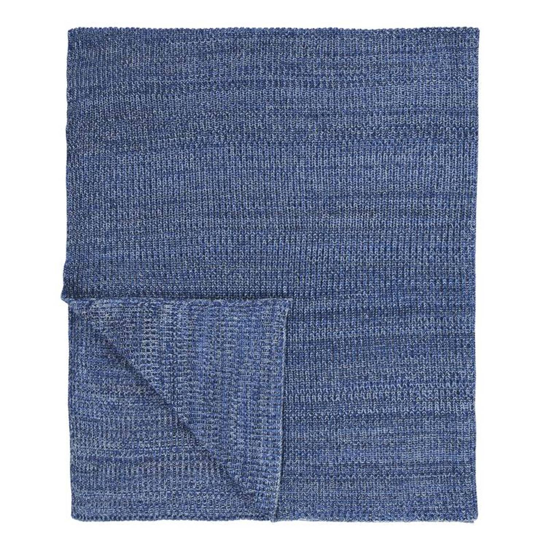 Marc O'Polo Kuara plaid - 100% katoen - 130x170 cm - Blauw