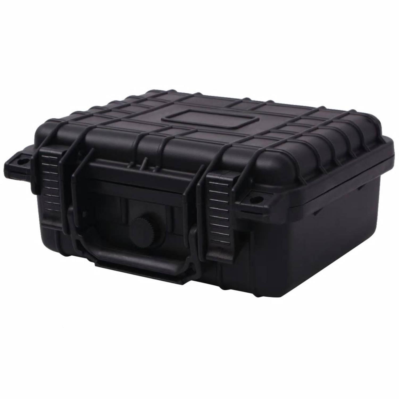 vidaXL Beschermende materiaalkoffer 27x24,6x12,4 cm zwart