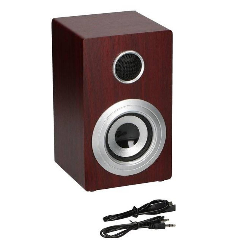 Soundlogic Retro Draadlloze Speaker - Bluetooth + Aux Bruin/Hout